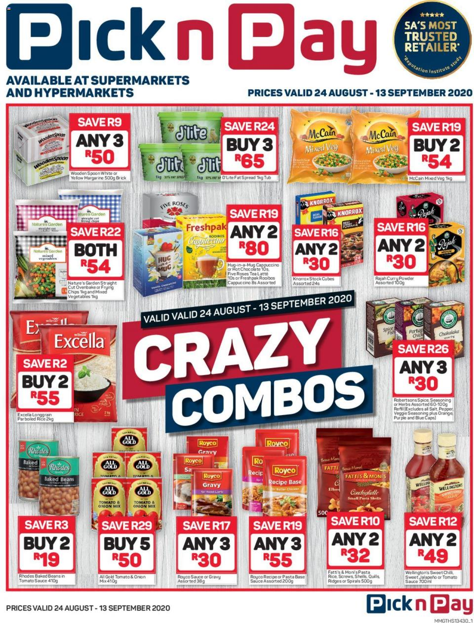 pick n pay crazy combo 24 august 2020