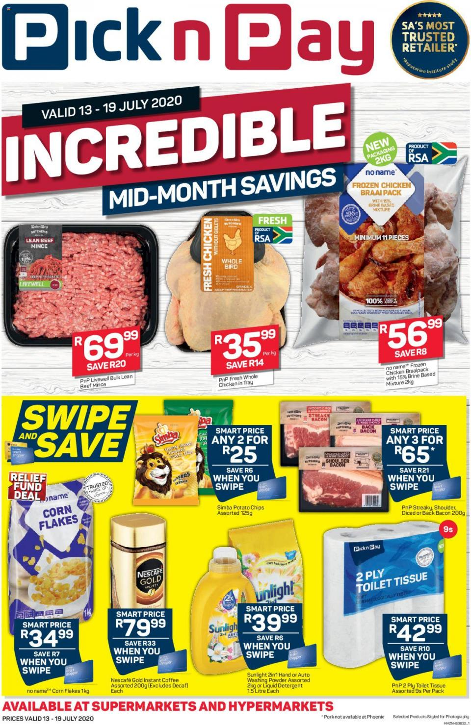 pick n pay incredible mid month savings 13 july 2020