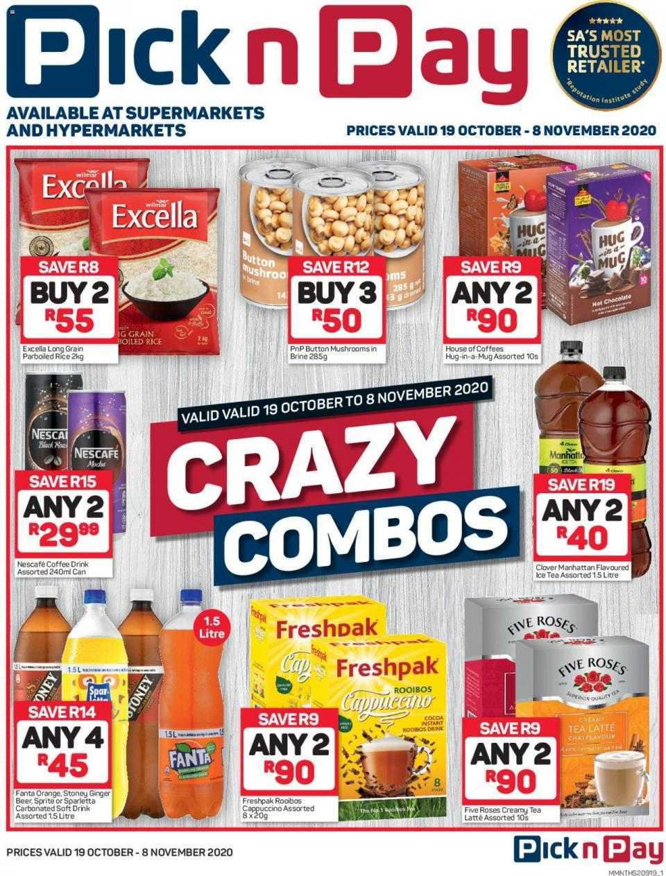 pick n pay specials crazy combos 19 october 2020