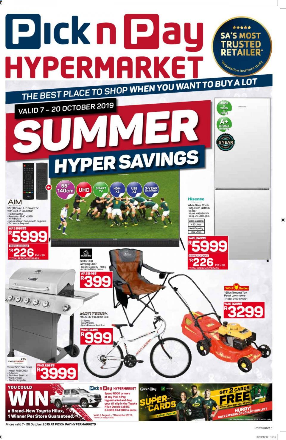 pick n pay specials hypermarket savings 07 october 2019