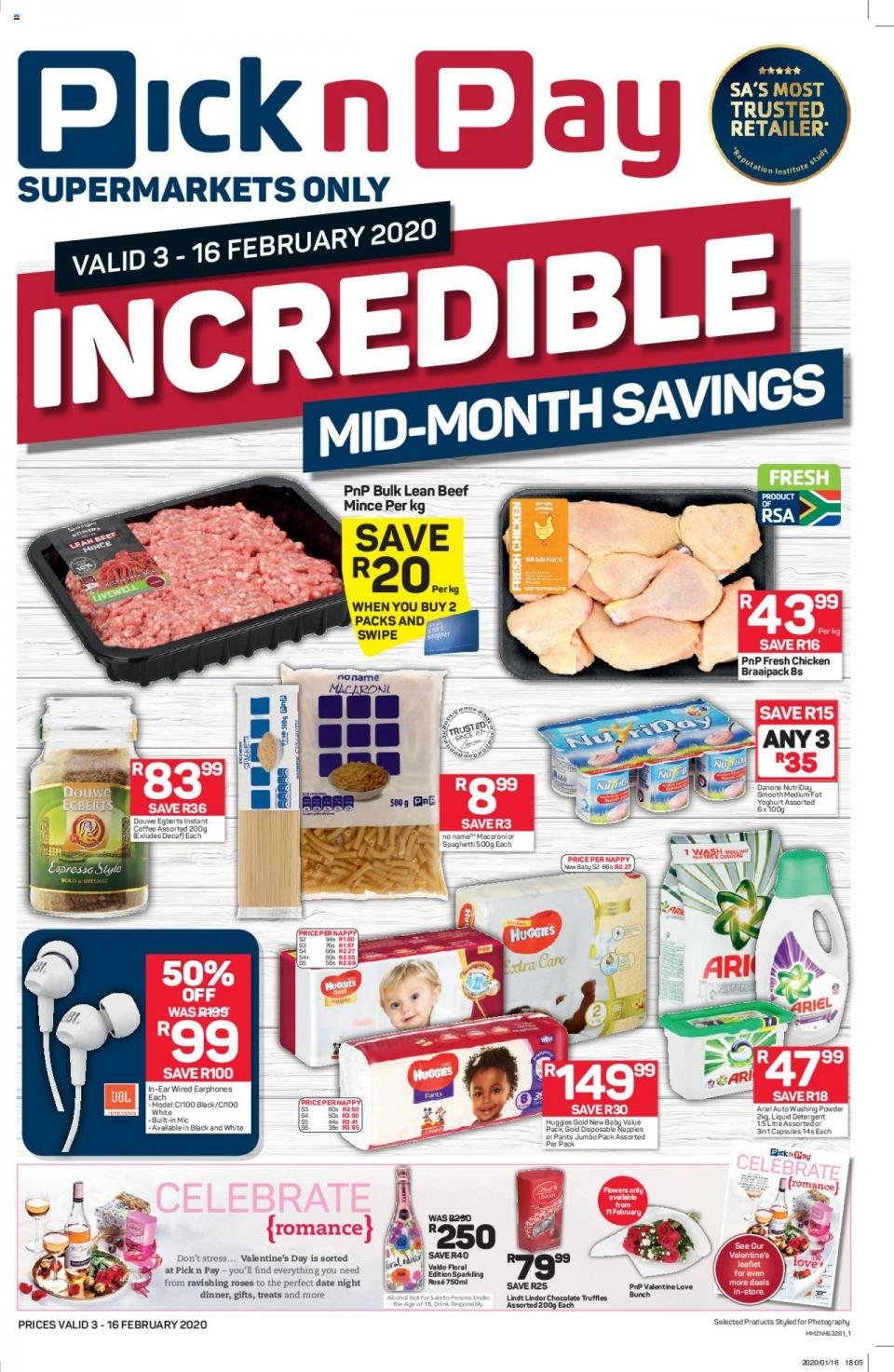 pick n pay specials incredible mid month savings 3 february 2020