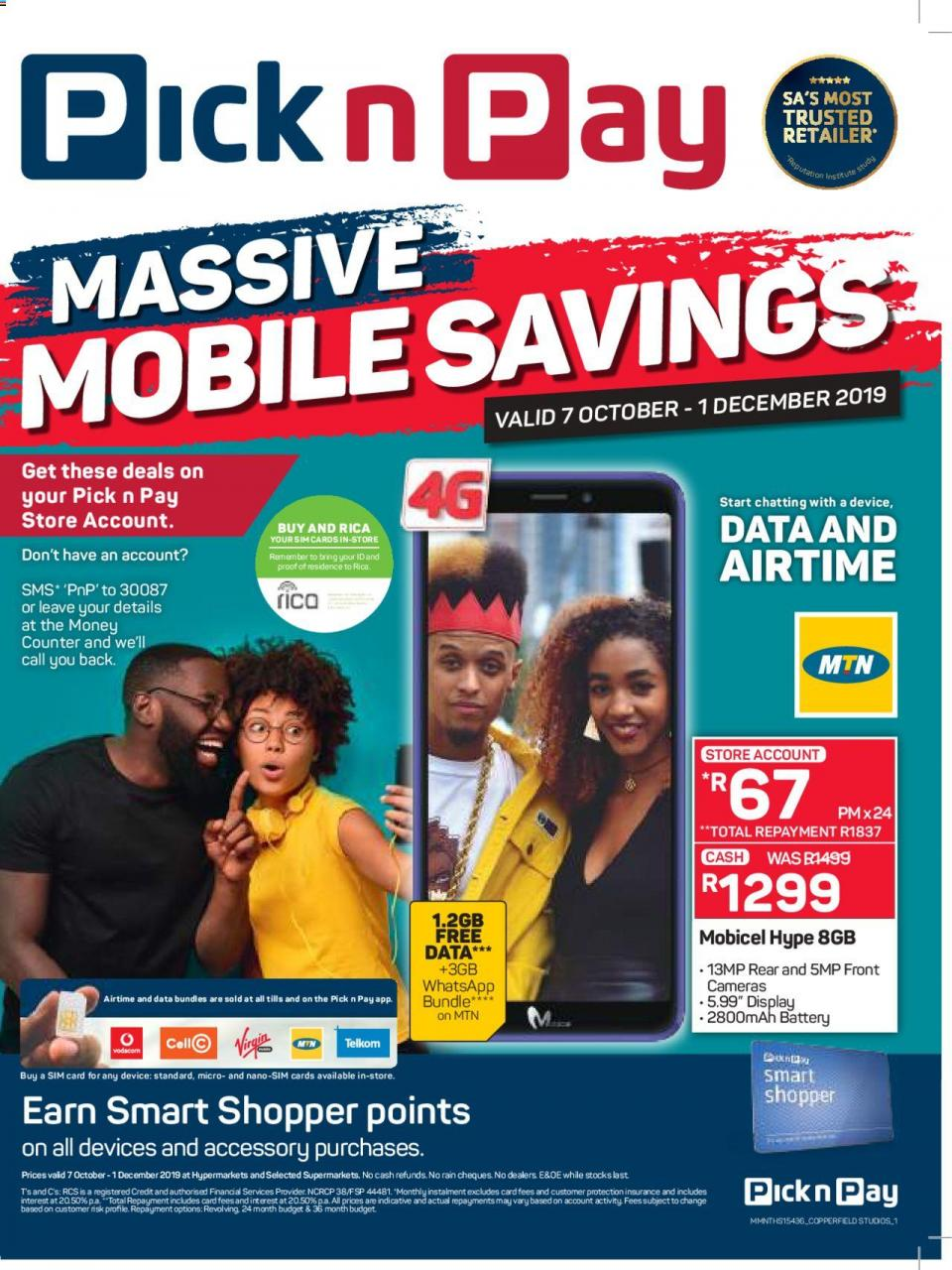 pick n pay specials massive mobile savings 07 october 2019