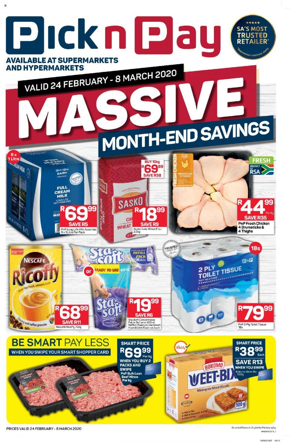 pick n pay specials massive month end savings 24 february 2020