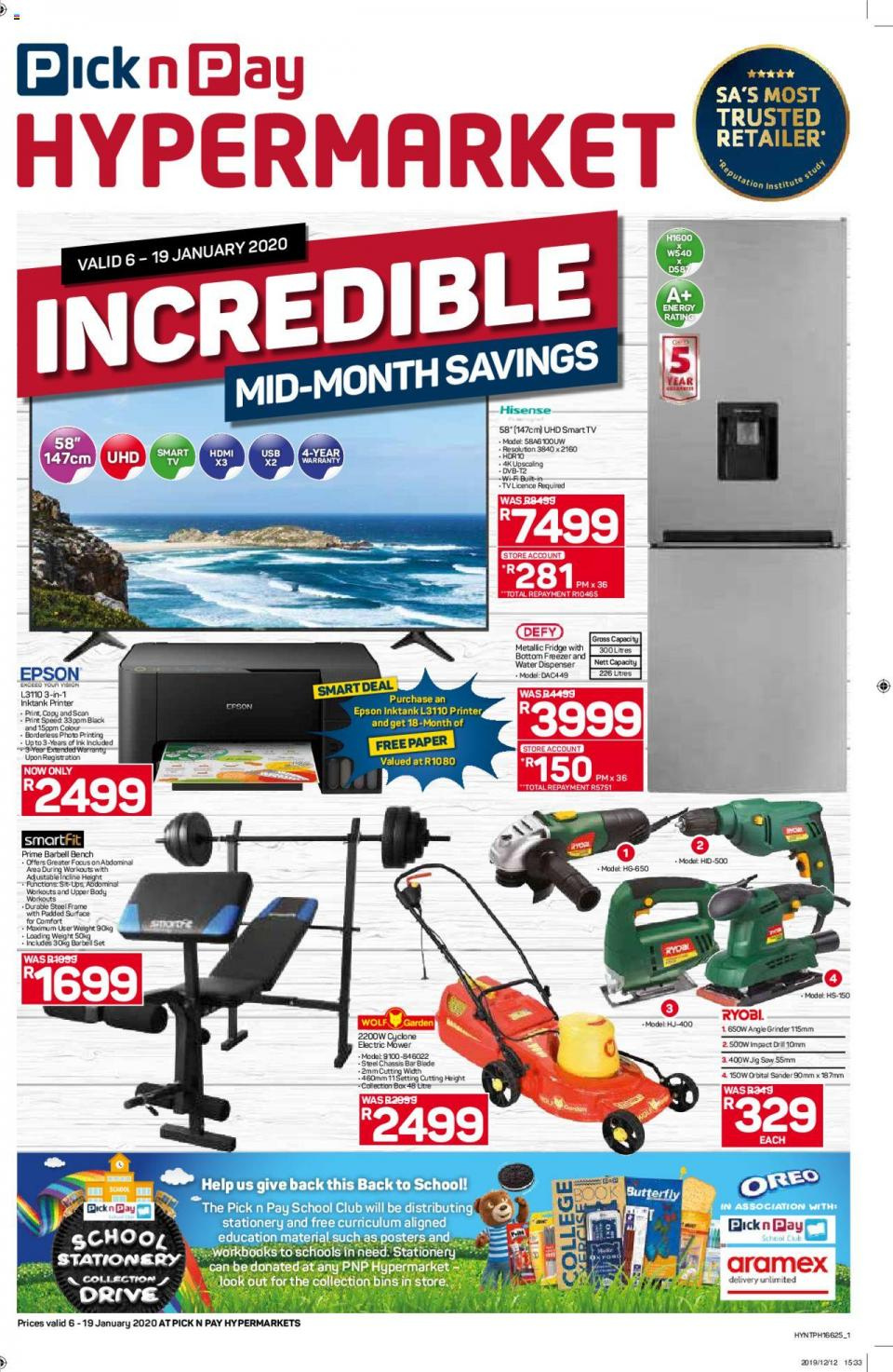 pick n pay specials mid month savings hypermarket 7 january 2020