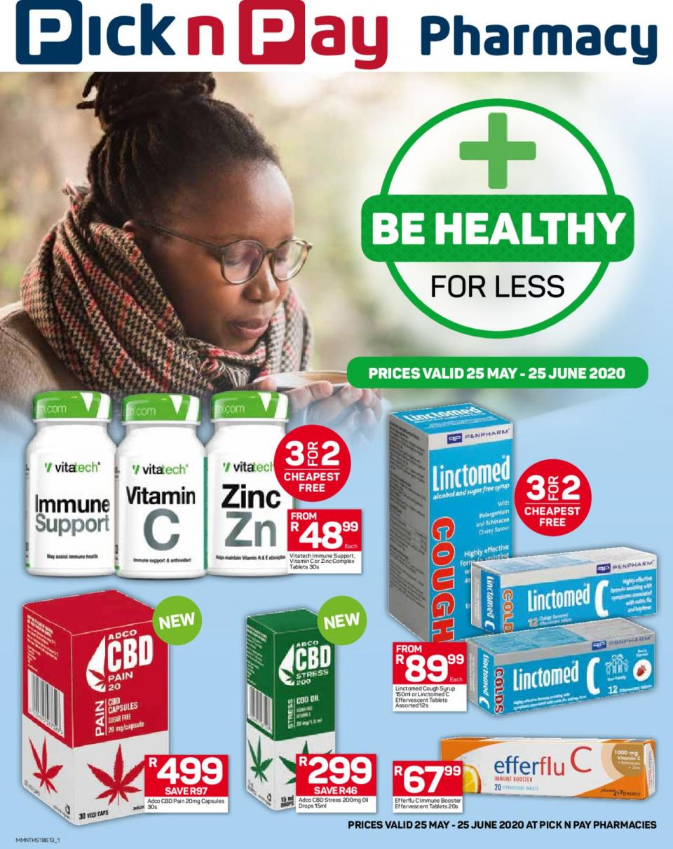 pick n pay specials pharmacy 25 may 2020