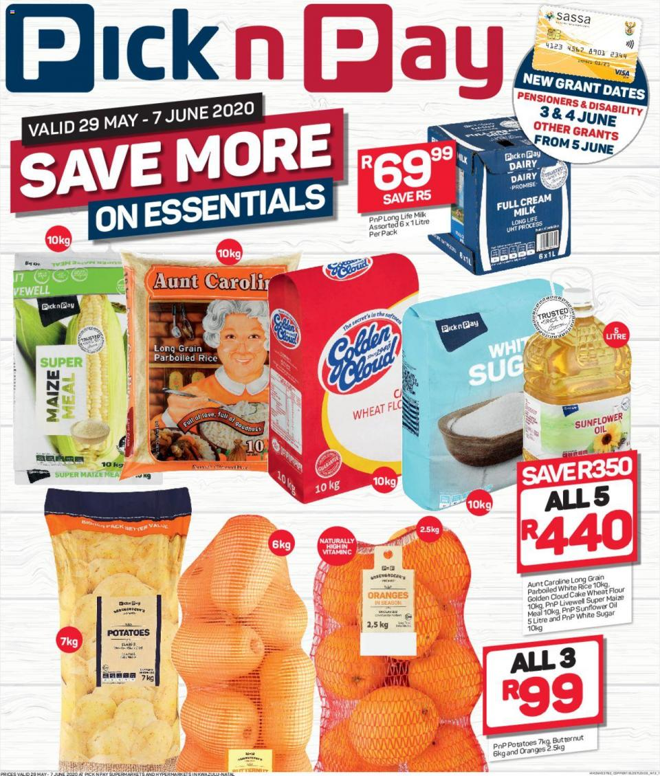 pick n pay specials save more on essentials 29 may 2020