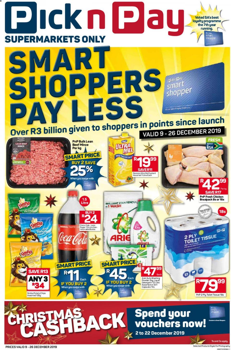 pick n pay specials smartshoppers pay less 09 december 2019