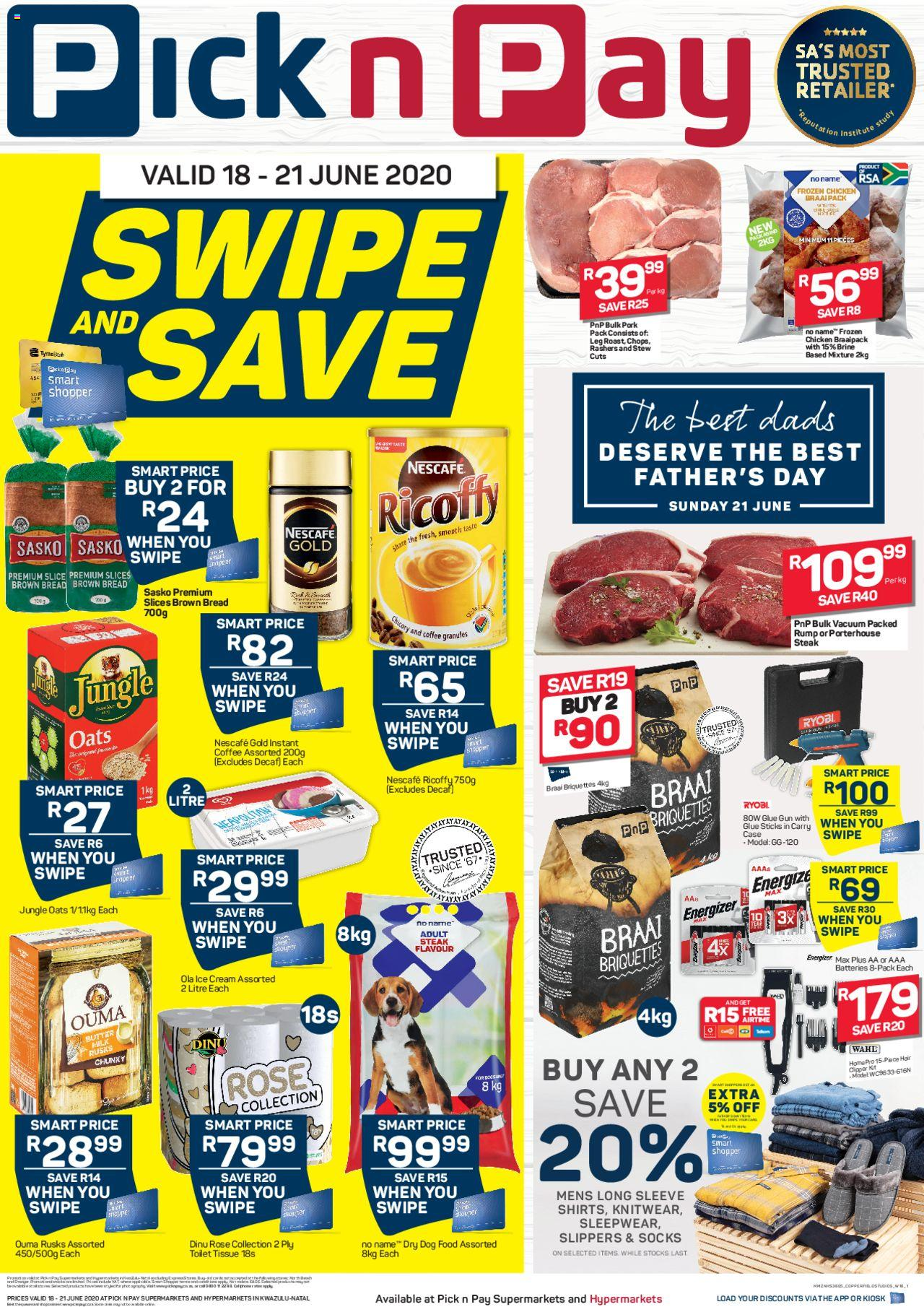 pick n pay specials swipe and save 18 june 2020