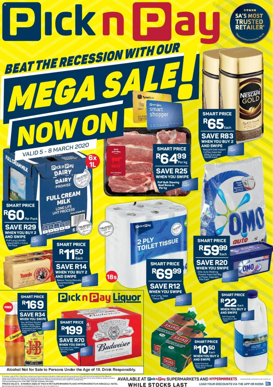 pick n pay specials this weekend 05 march 2020