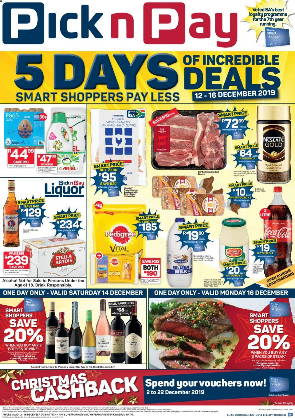 pick n pay specials this weekend 12 december 2019