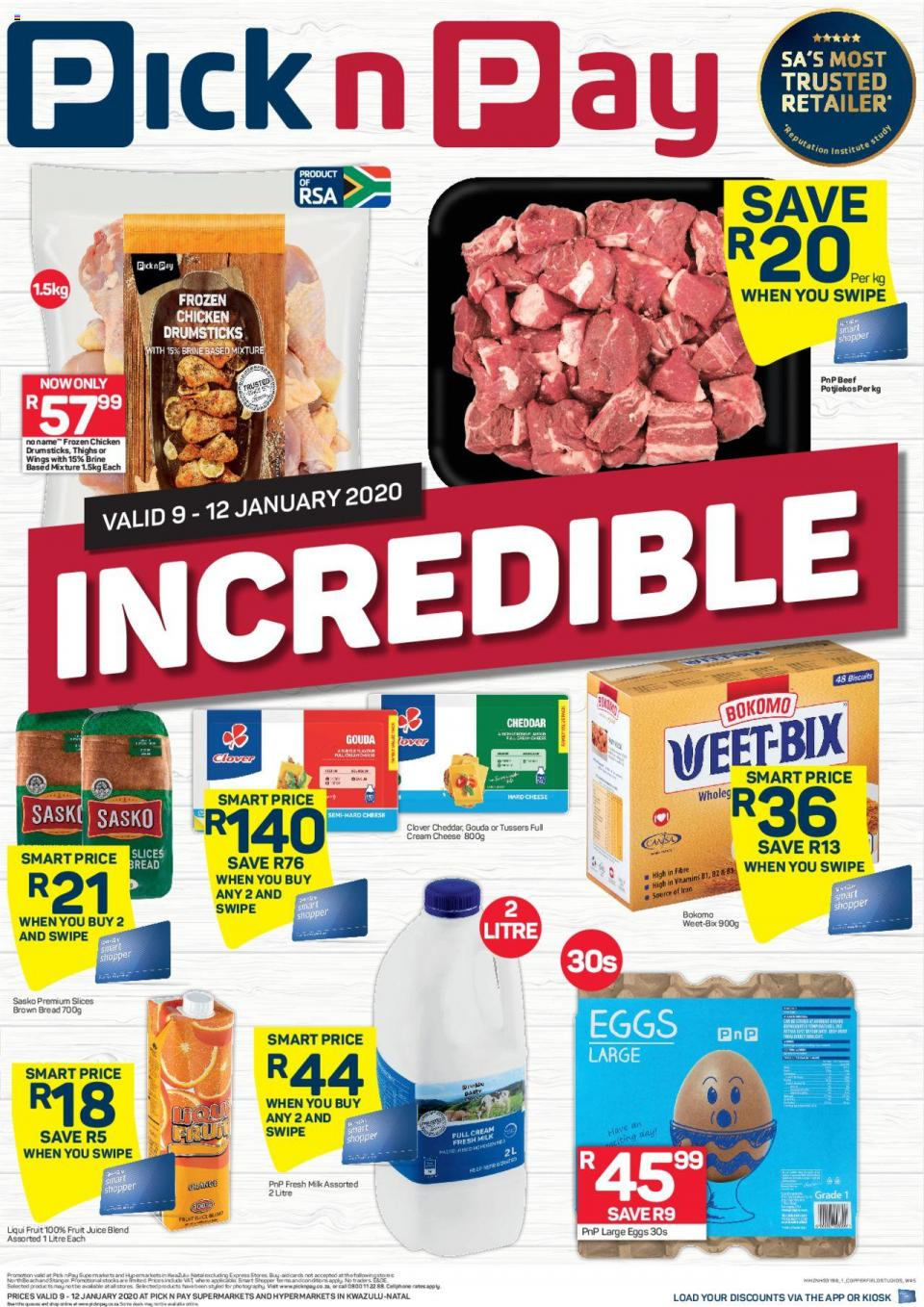 pick n pay specials this weekend 9 january 2020