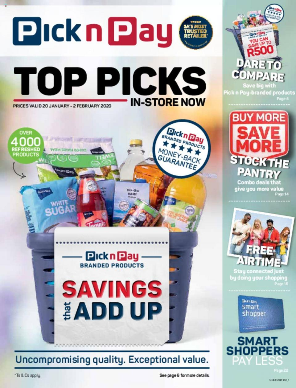 pick n pay specials top picks 20 january 2020