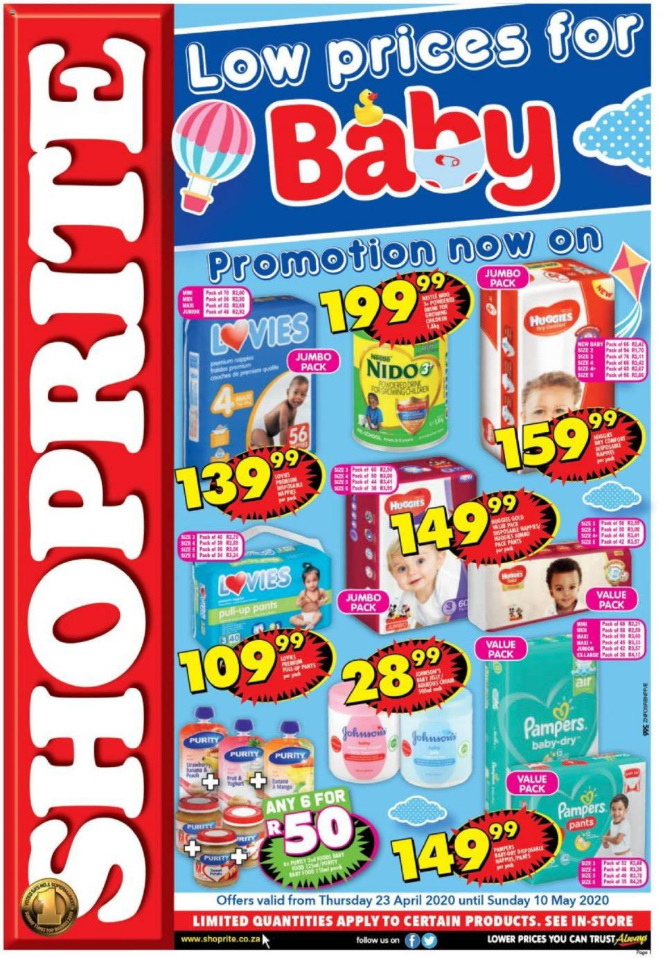 shoprite specials baby promotion 23 april 2020
