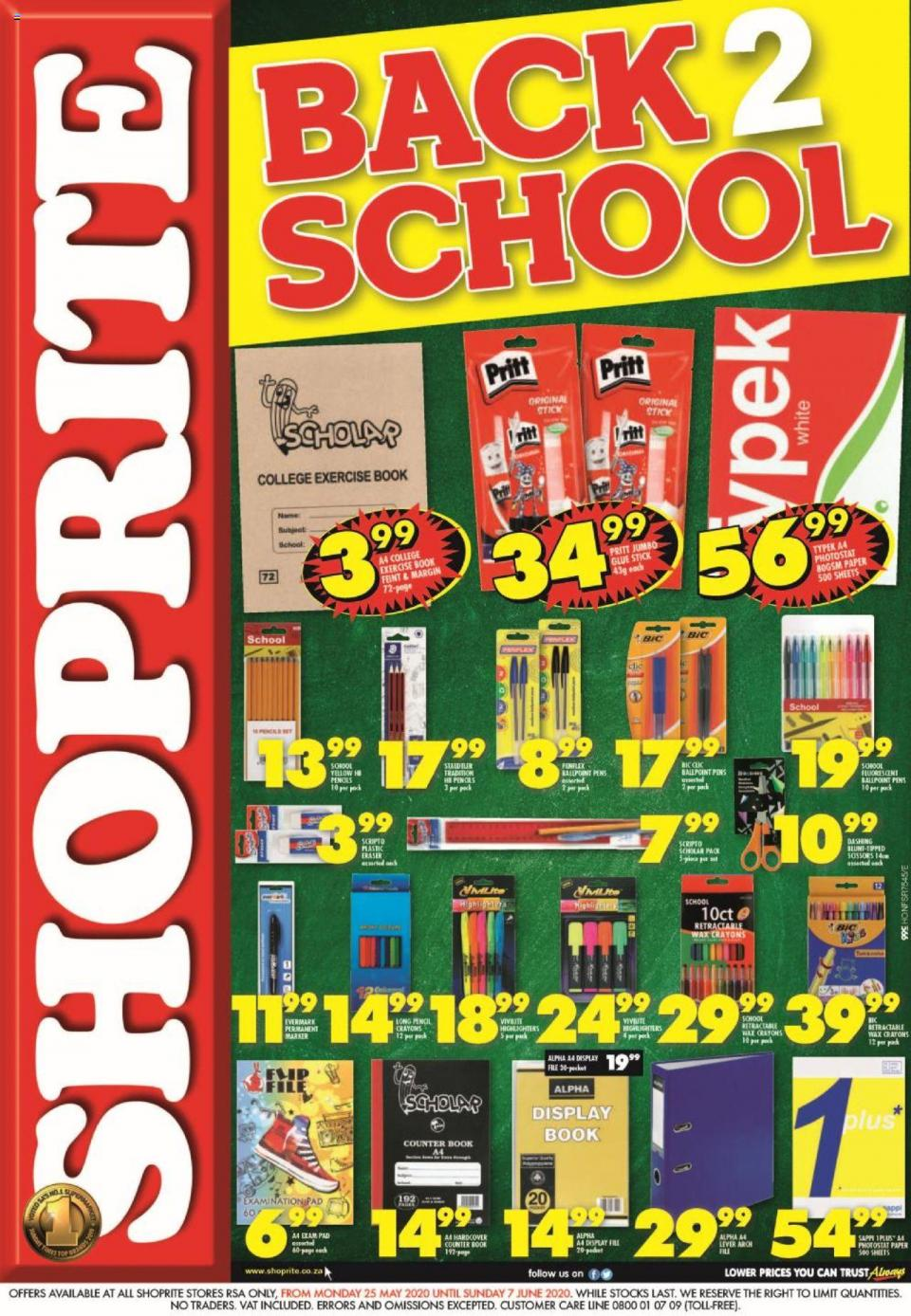 shoprite specials back to school promotion 25 may 2020