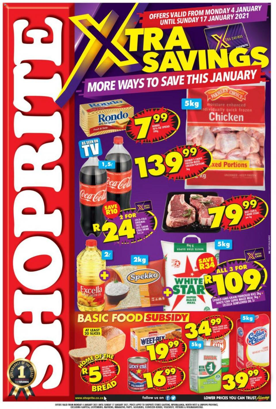 shoprite specials exclusive deals 4 january 2021