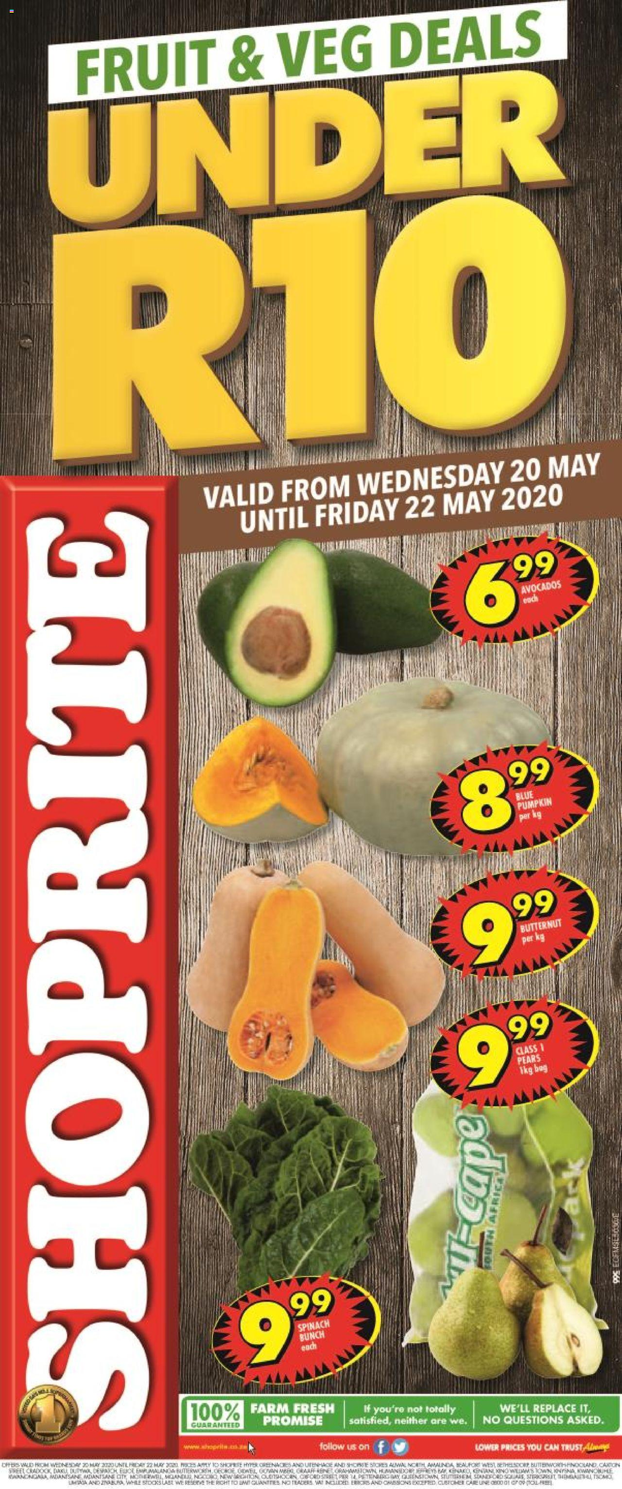 shoprite specials fruit and vegs 20 may 2020