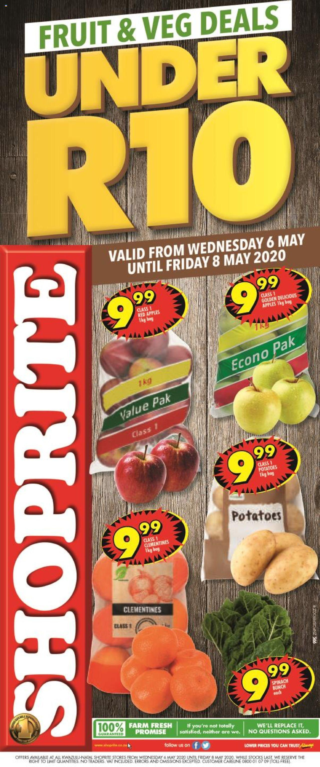 shoprite specials fruit and vegs 6 may 2020