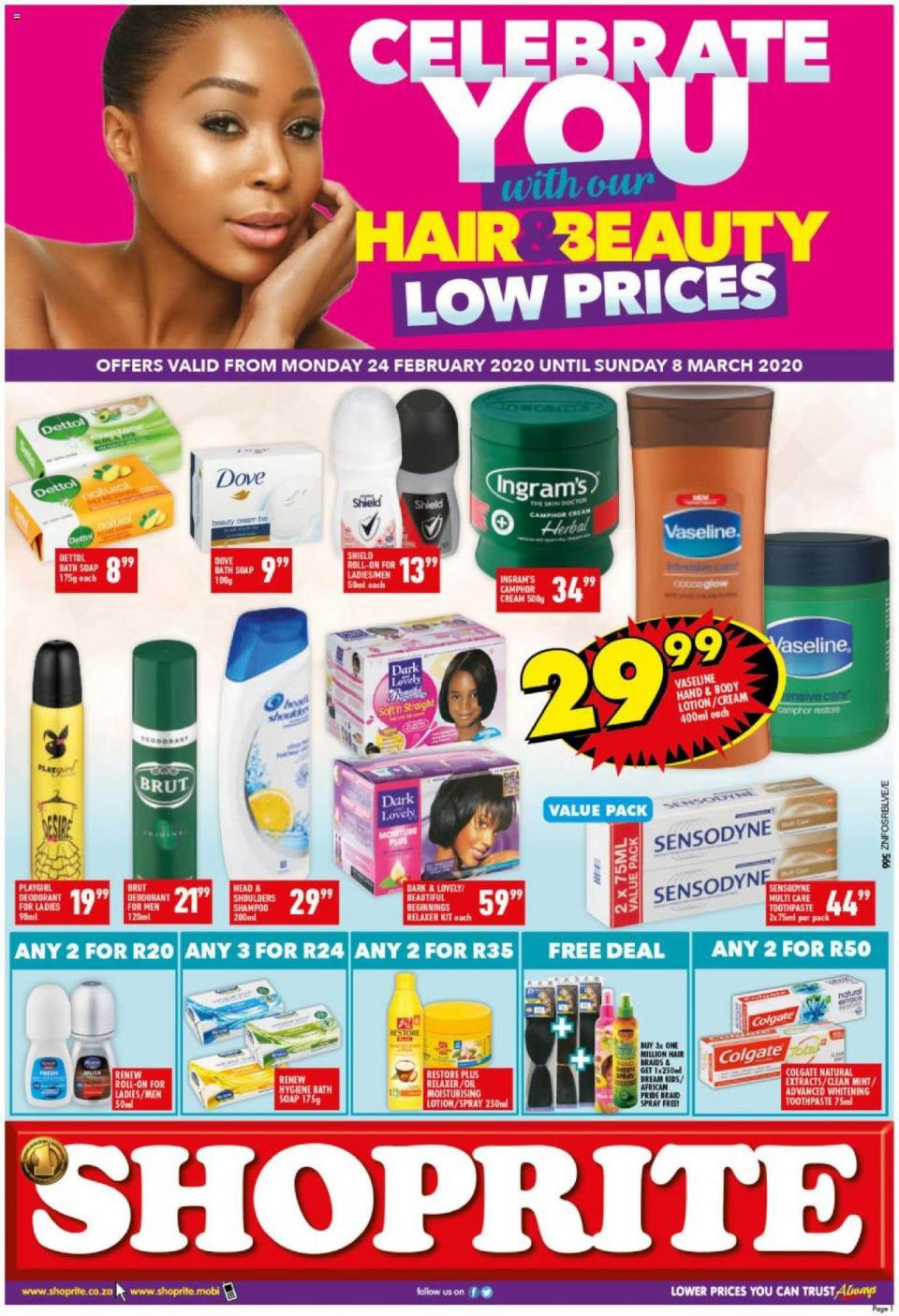 shoprite specials hair beauty promotion 26 february 2020