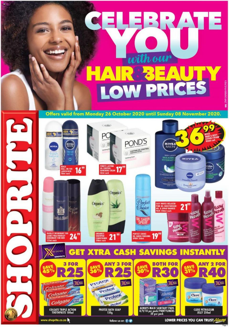 shoprite specials hair beauty promotion 26 october 2020
