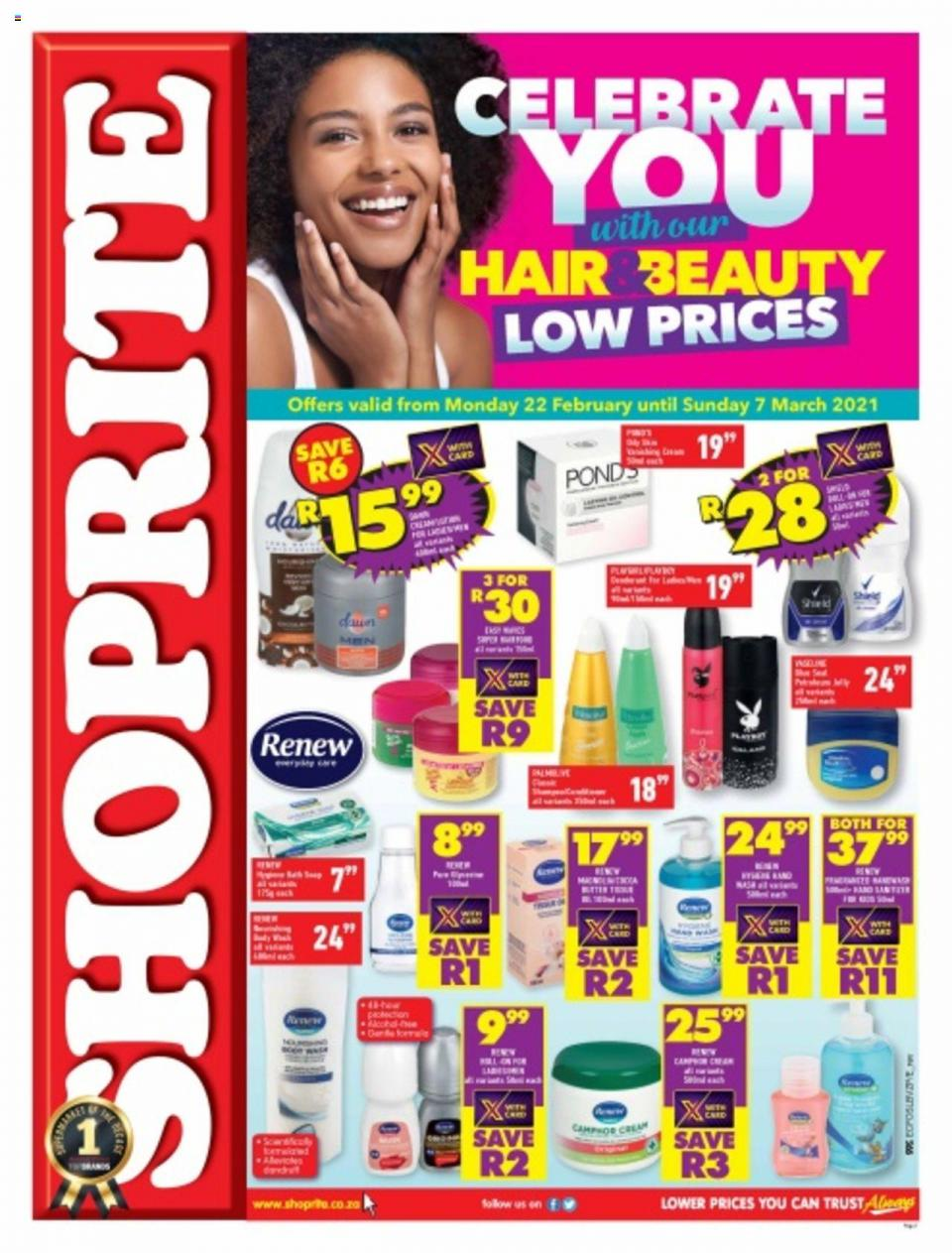 shoprite specials hair beauty sale 22 february 2021