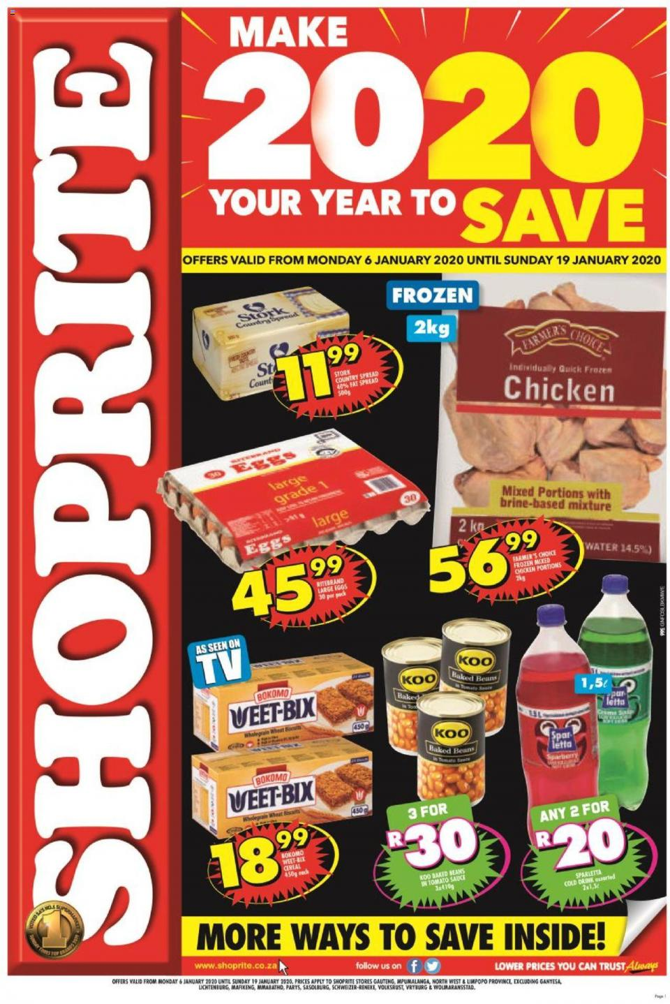 shoprite specials jan price savings great north 8 january 2020