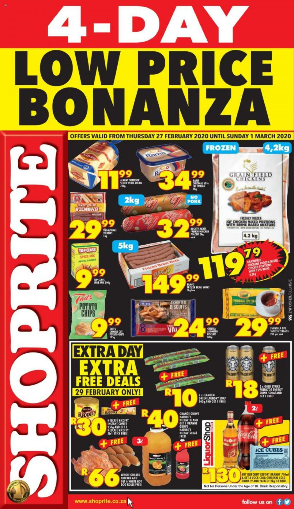 shoprite specials low price bonanza 27 february 2020