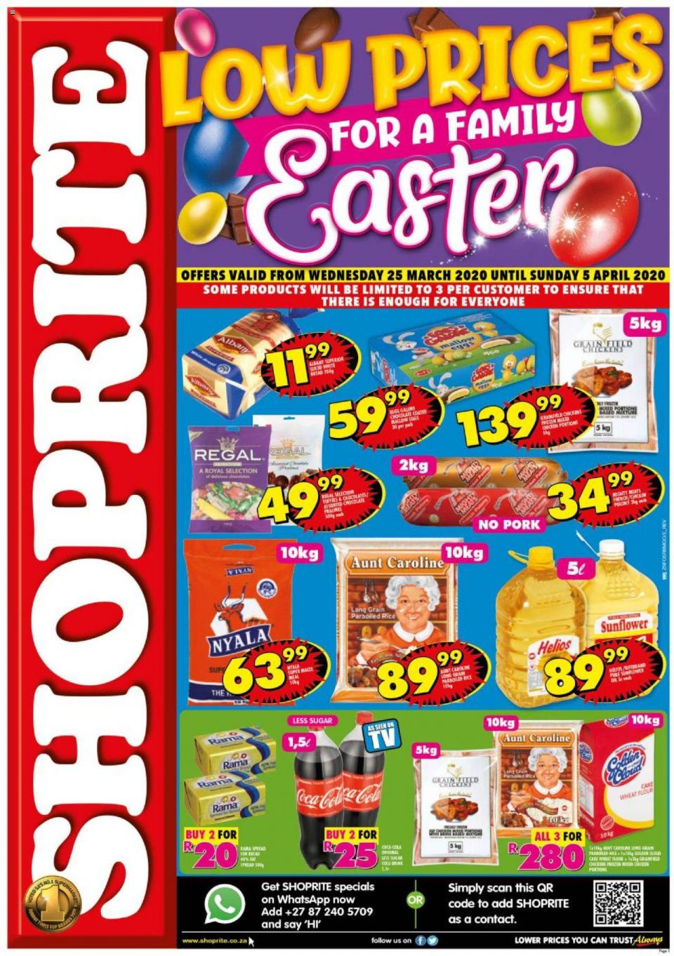 shoprite specials low prices easter 25 march 2020