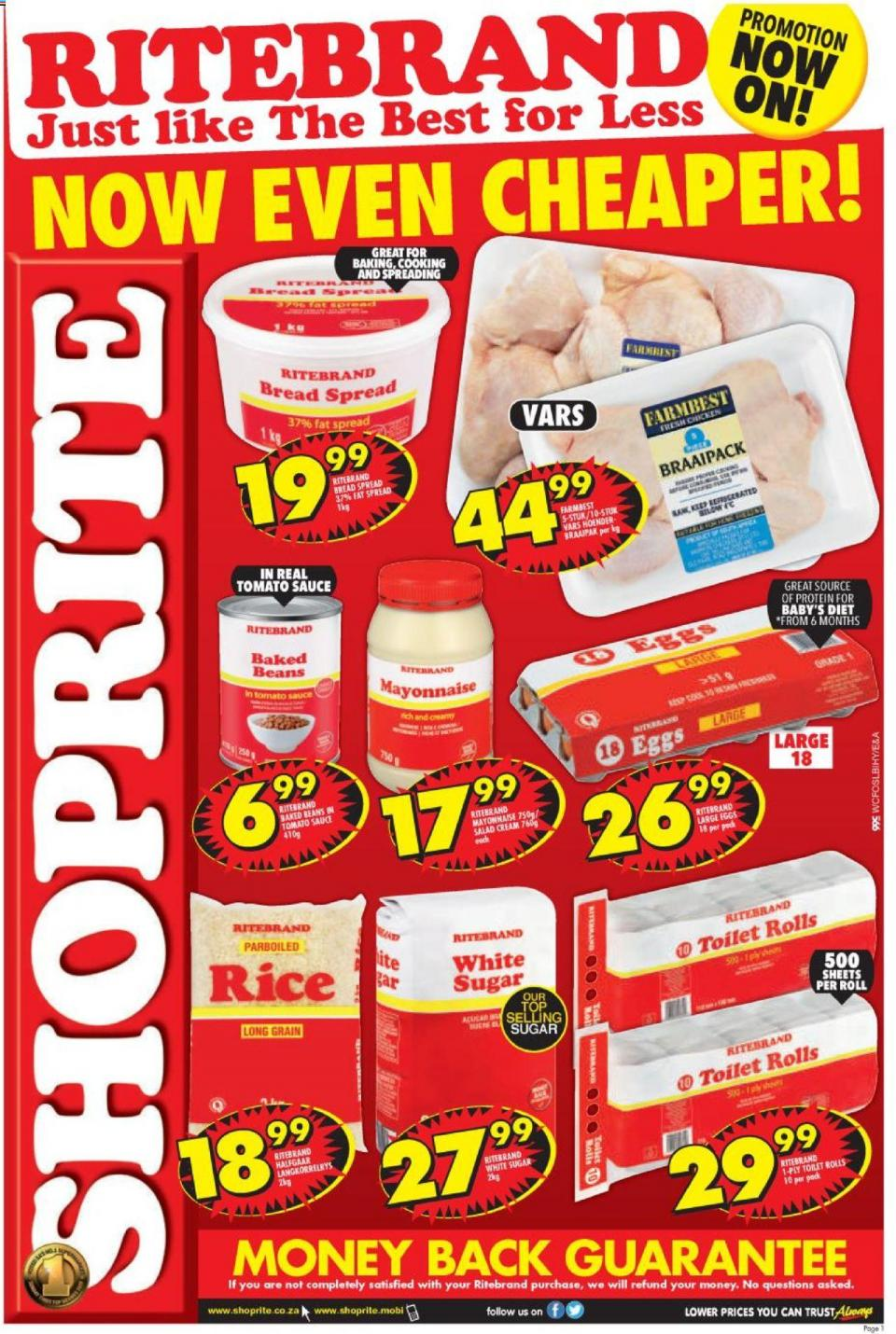 shoprite specials ritebrand promotion 09 october 2019 western cape