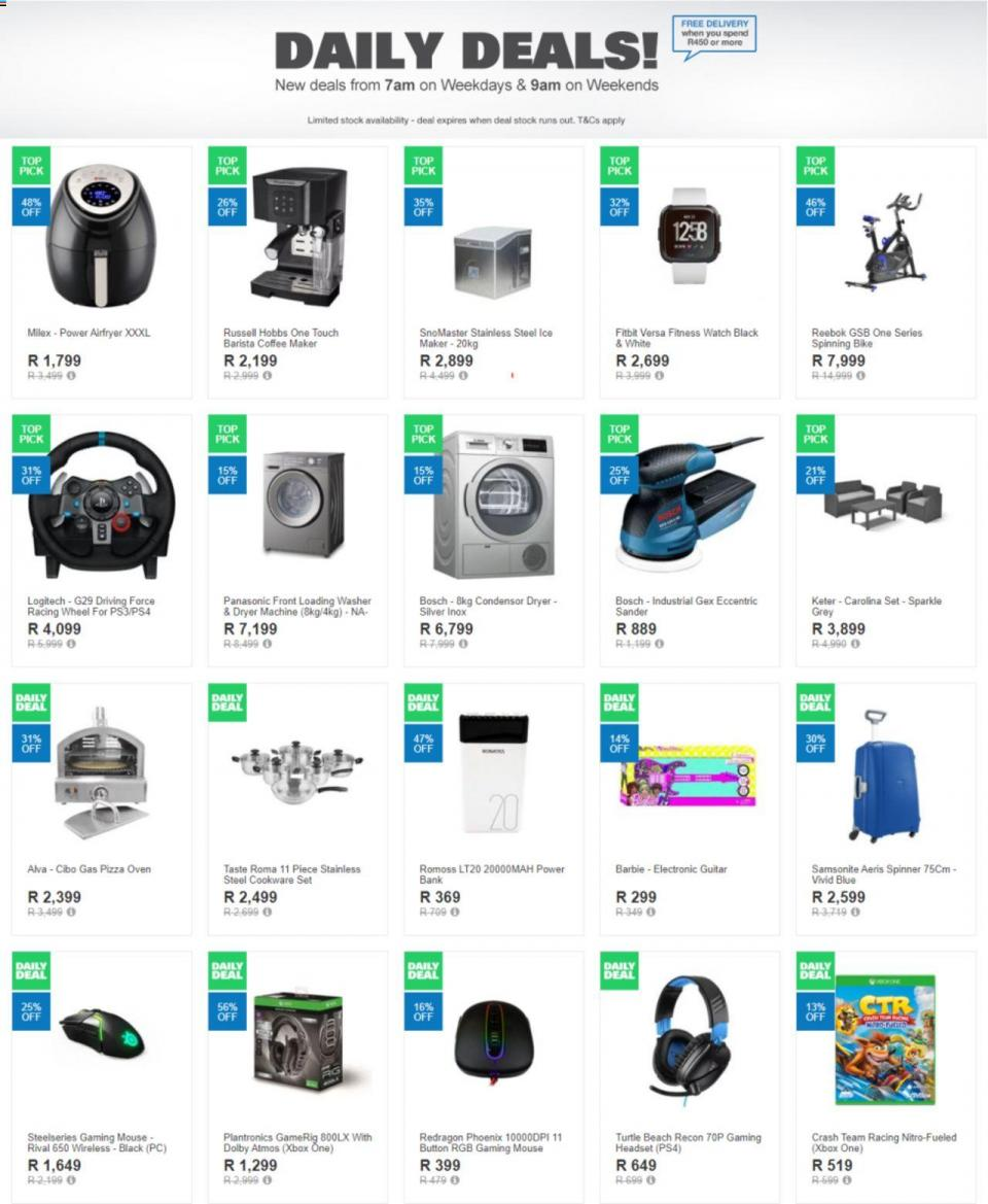 takealot specials current offer 14 october 2019