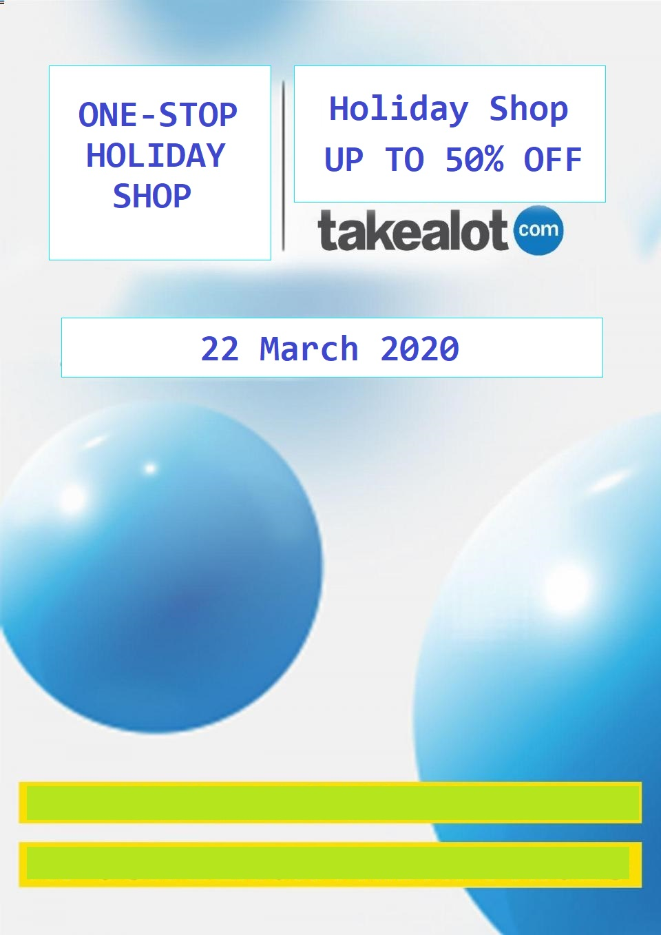Takealot Specials Holiday Shopping Sale 22 March 2020