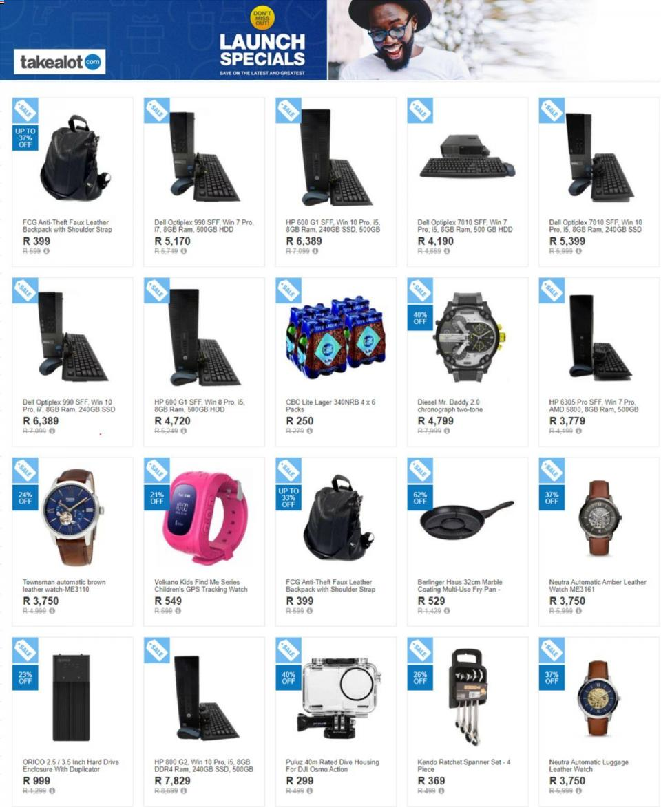 takealot specials launch specials 28 october 2019