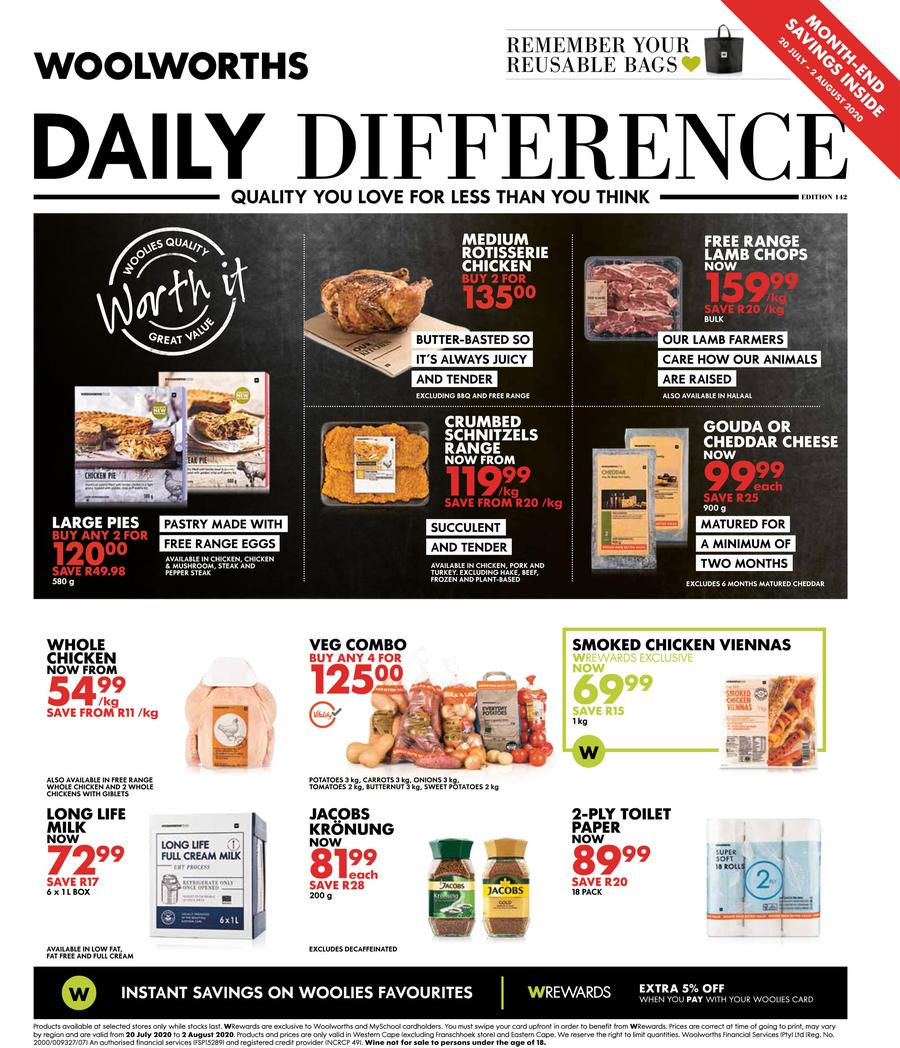 woolworths specials 20 july 2020