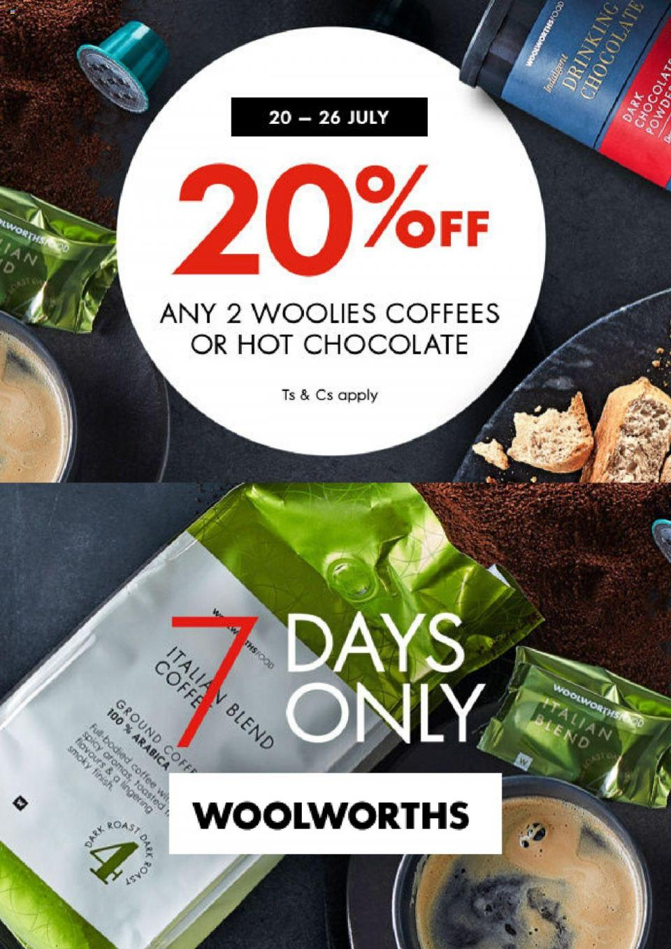 woolworths specials 20 off 20 july 2020