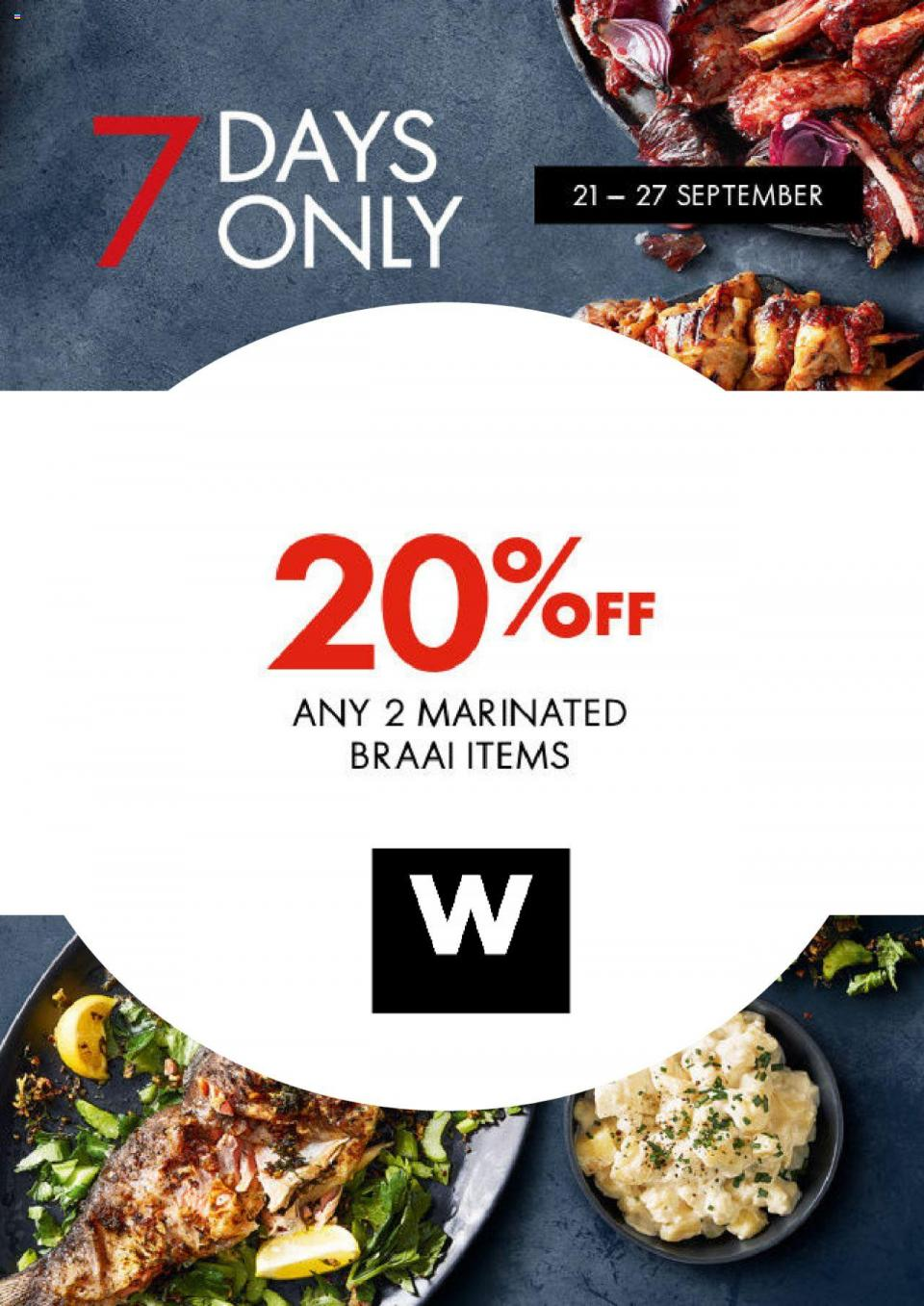 woolworths specials 20 off on braai items 21 september 2020