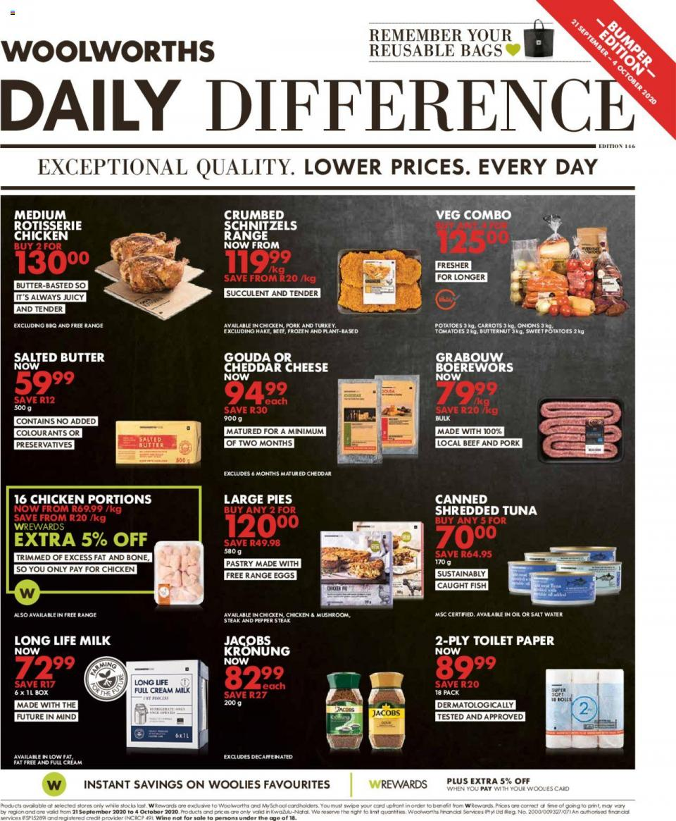 woolworths specials 21 september 2020