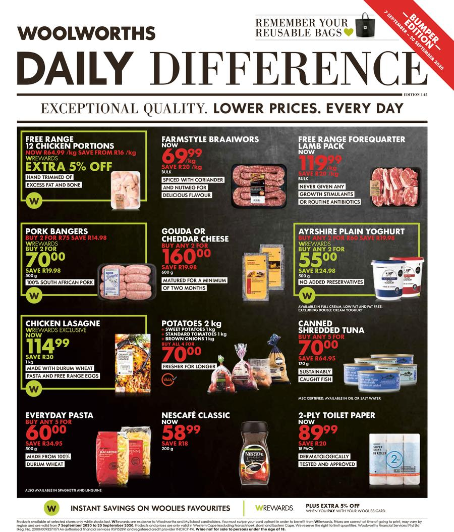 woolworths specials 7 September 2020